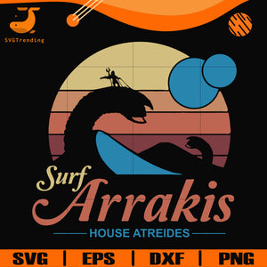 Surf arrakis house atreides svg, png, dxf, eps digital file OTH0032