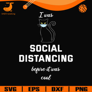 I was social distancing before it was cool svg, png, dxf, eps digital file TD27072032