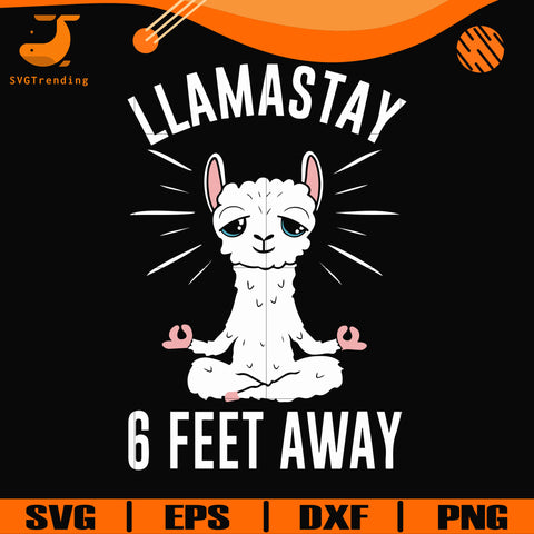 Llamastay 6 feet away svg, png, dxf, eps digital file TD27072033