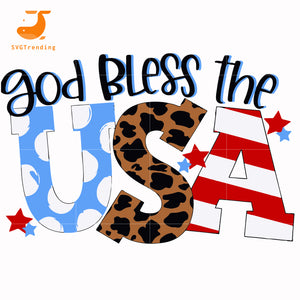 god bless the usa svg, png, dxf, eps, digital file