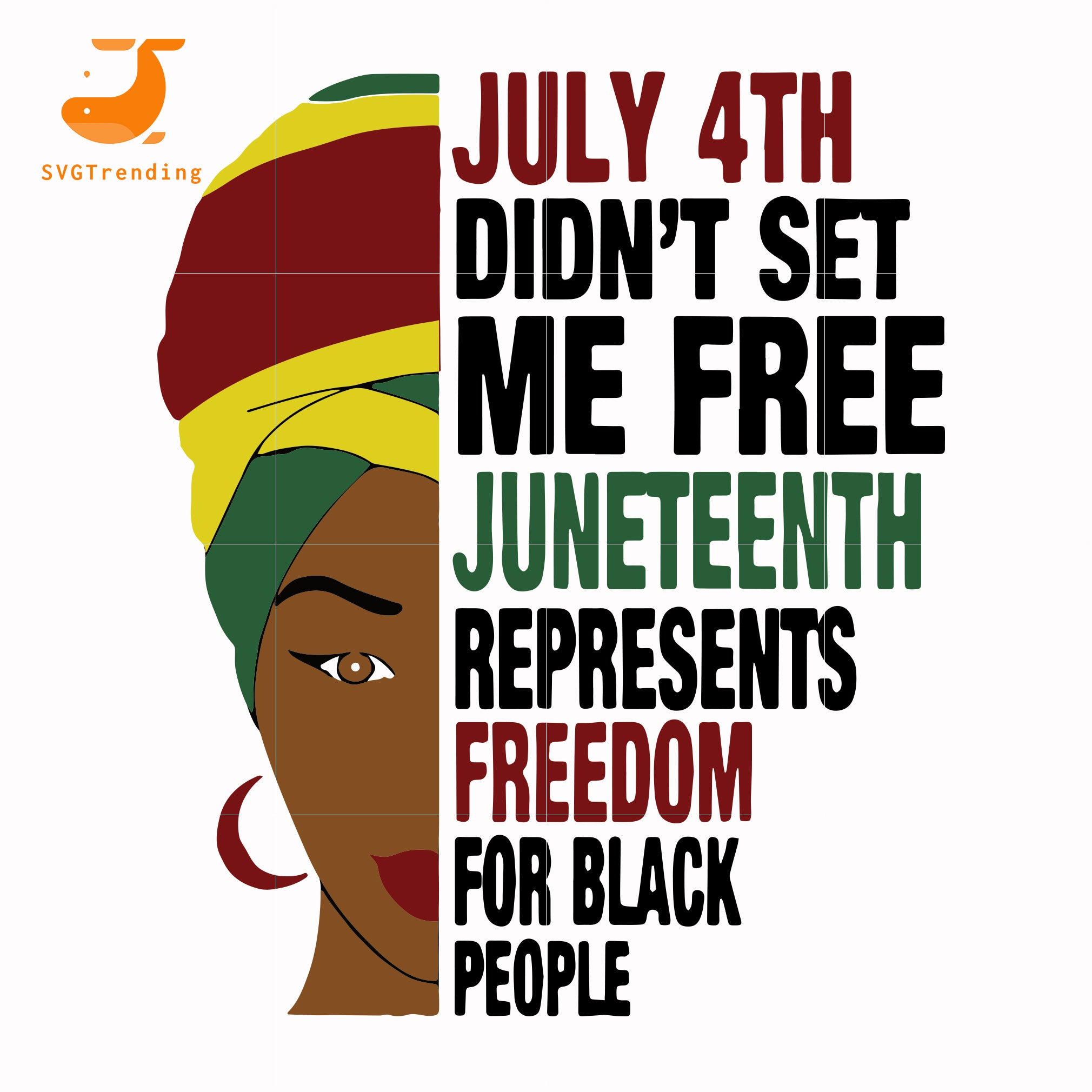 juneteenth represents svg, png, dxf, eps, digital file