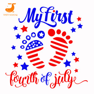 My first fourth of july svg, png, dxf, eps, digital file JULY0013