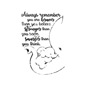 Always remember you are braver than you believe stronger than you seem smarter than you think svg png dxf eps digital file