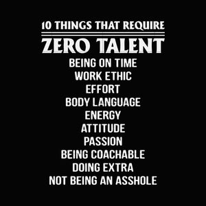 10 things that require zero talent svg ,dxf,eps,png digital file