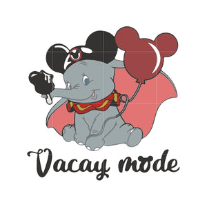 Vacay mode svg ,dxf,eps,png digital file