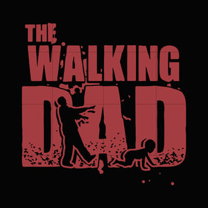 The walking dad svg,dxf,eps,png digital file