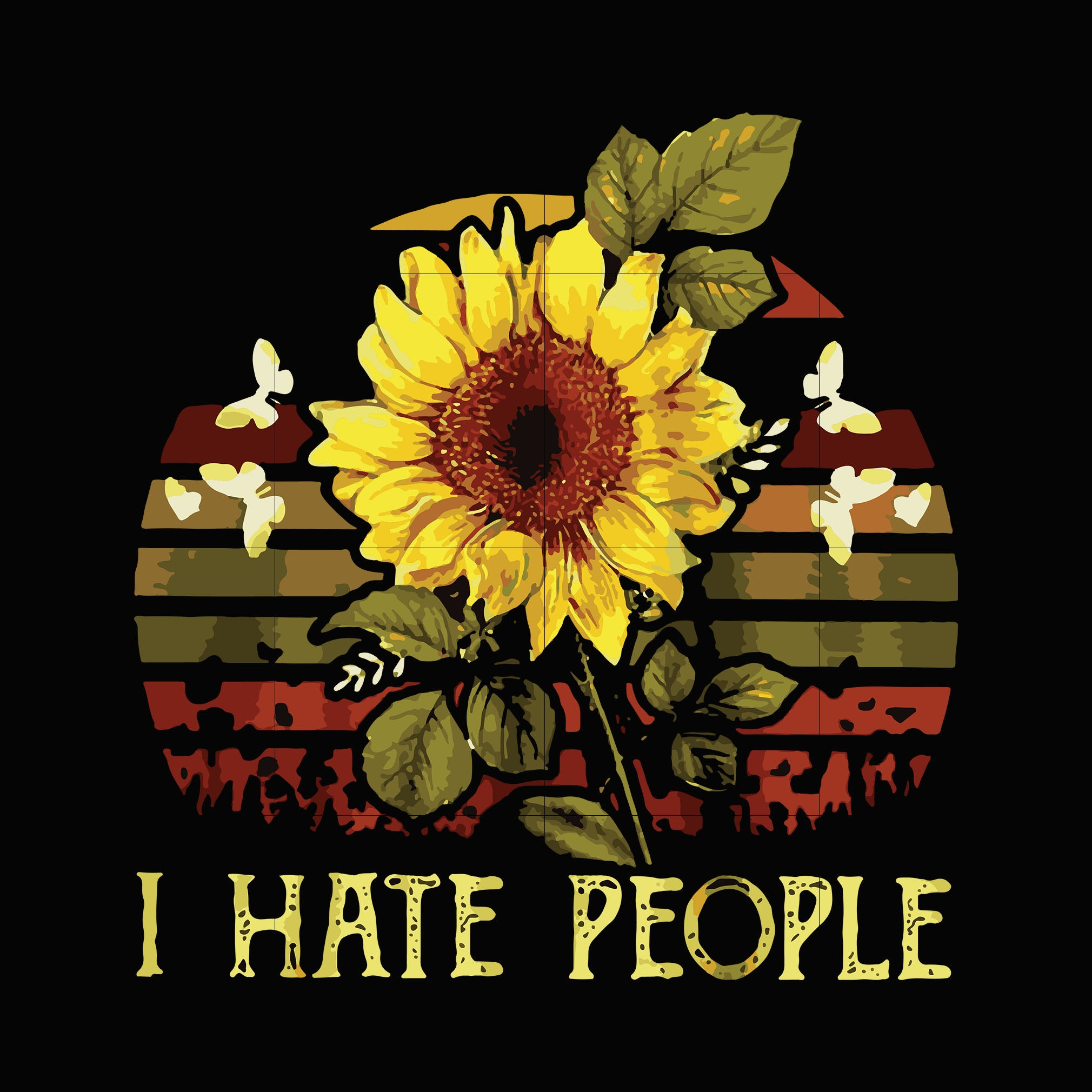 I hate people svg ,dxf,eps,png digital file