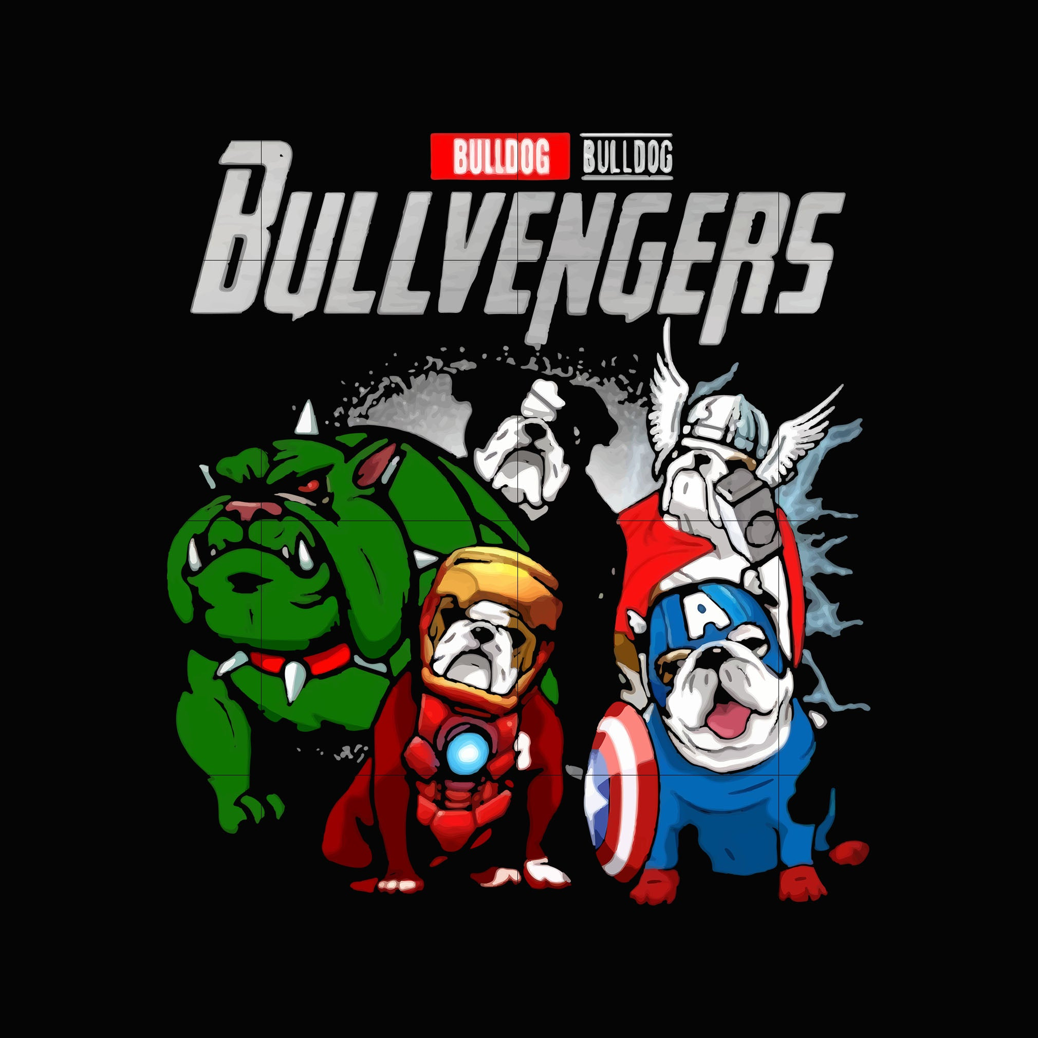 Bullvengers svg,dxf,eps,png digital file
