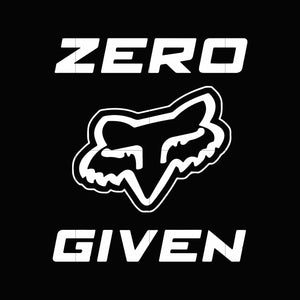Zero fox given svg ,dxf,eps,png digital file