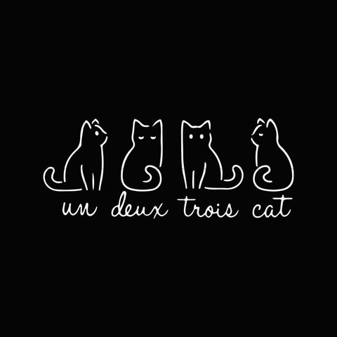 Un deux trois cat svg,dxf,eps,png digital file