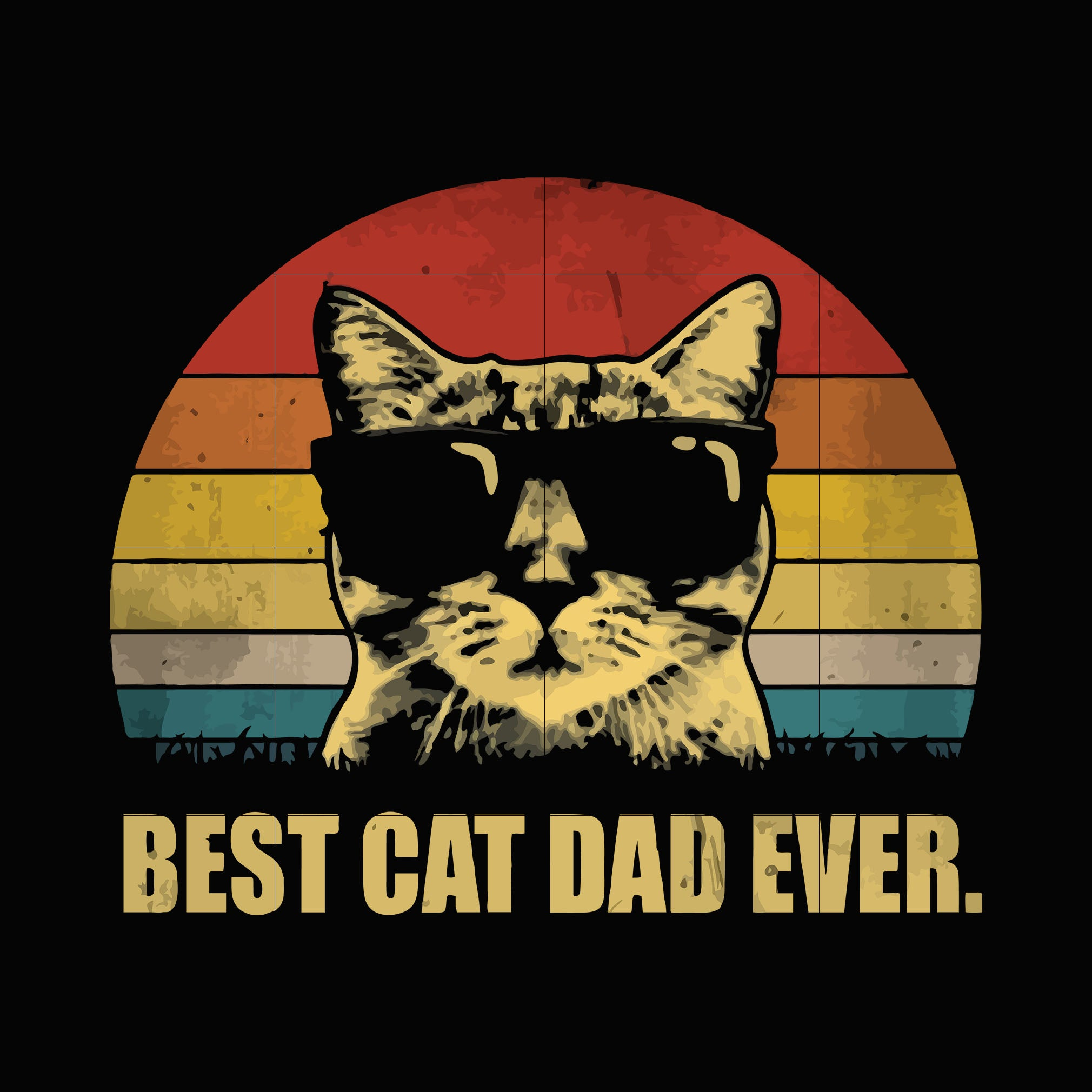 Best cat dad ever svg,dxf,eps,png digital file