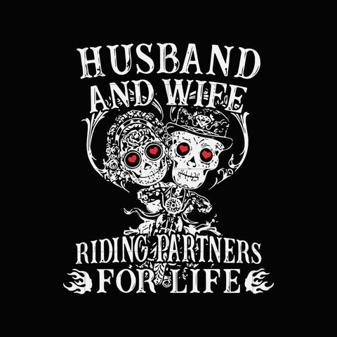 Husband and wife riding partners for life svg,dxf,eps,png digital file