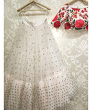 White Colored Georgette Embrodered Designer Lehenga Choli With Dupatta