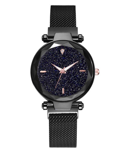 Black Colored Magnatic Watch For Women