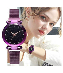 Purple Colored Magnatic Ladies Watch