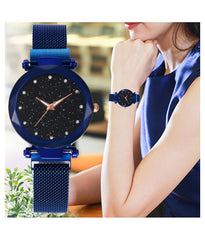 Blue Colored Magnatic Ladies Watch
