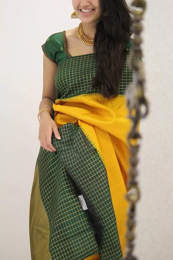 Amazing Yellow Colored Soft Silk Designer Printed Saree With Blouse