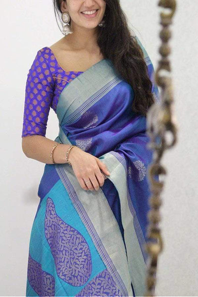 Innovative Multicolored Soft Silk Designer Festive Wear Saree