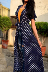 Marvellous Blue Colored Creap Printed Kurtis