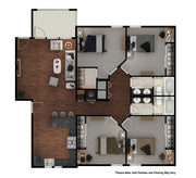 4 Bedroom/2 Bath-1,524SF