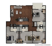 4 Bedroom/4 Bathroom-1,649SF