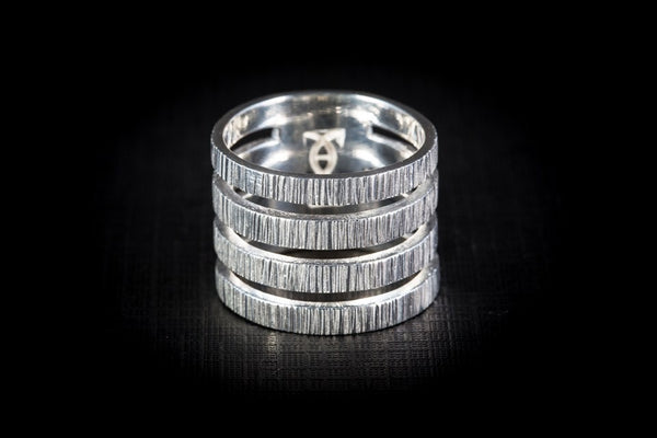 Sterling Silver Handcrafted Stack Ring