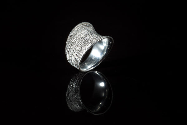 Sterling Silver Handcrafted Flow Saddle Ring