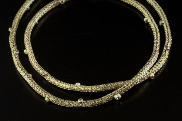 Gold Plated Sterling Silver Handcrafted Chain Natalli Long Necklace