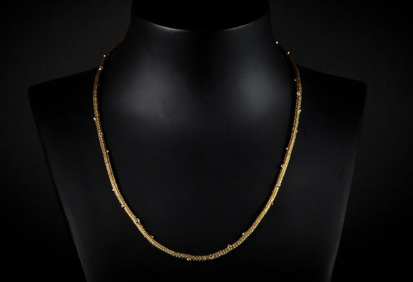 Gold Plated Sterling Silver Handcrafted Natalli Chain Necklace