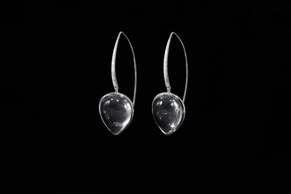 Sterling Silver Handcrafted Crystal Petal Earring