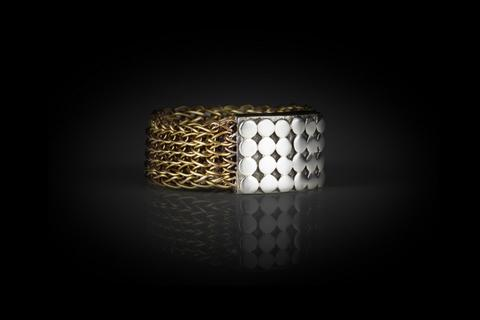 Sterling Silver and Woven Brass Wire Handcrafted Sumba ring