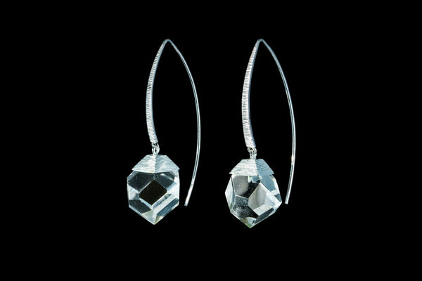 Sterling Silver Handcrafted Zahara Crystal Earring
