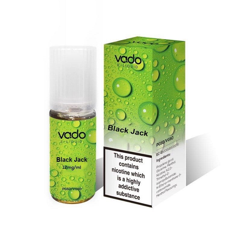 Vado Black Jack 10ml E-Juice (50VG/50PG)