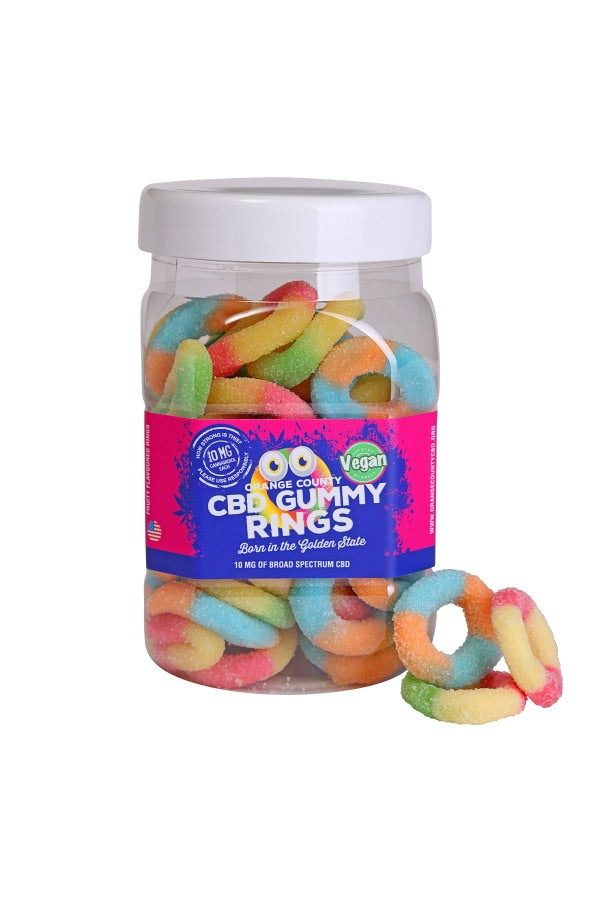 Large CBD Gummy Rings (80 pieces in tub)
