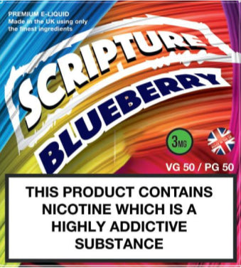 Scripture Blueberry x3 10ml E-Juice (50VG/50PG)