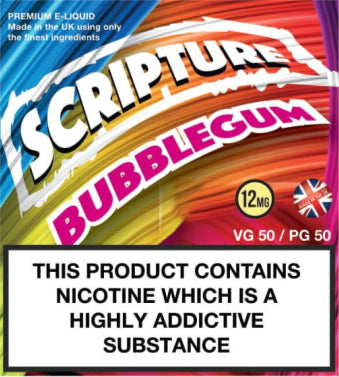 Scripture Bubblegum x3 10ml E-Juice