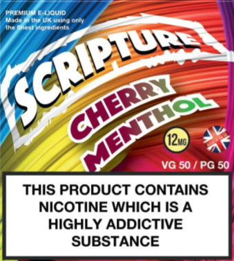 Scripture Cherry Menthol x3 10ml E-Juice (50VG/50PG)
