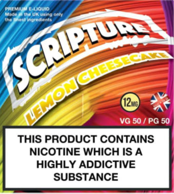 Scripture Lemon Cheesecake x3 10ml E-Juice (50VG/50PG)