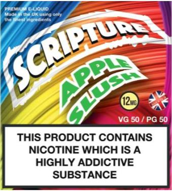 Scripture Apple Slush x3 10ml E-Juice (50VG/50PG)