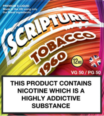 Scripture Tobacco 1960 x3 10ml E-Juice (50VG/50PG)