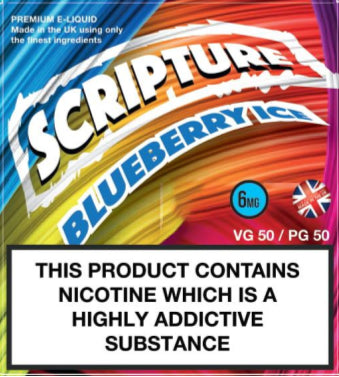 Scripture Blueberry Ice x3 10ml E-Juice (50VG/50PG)