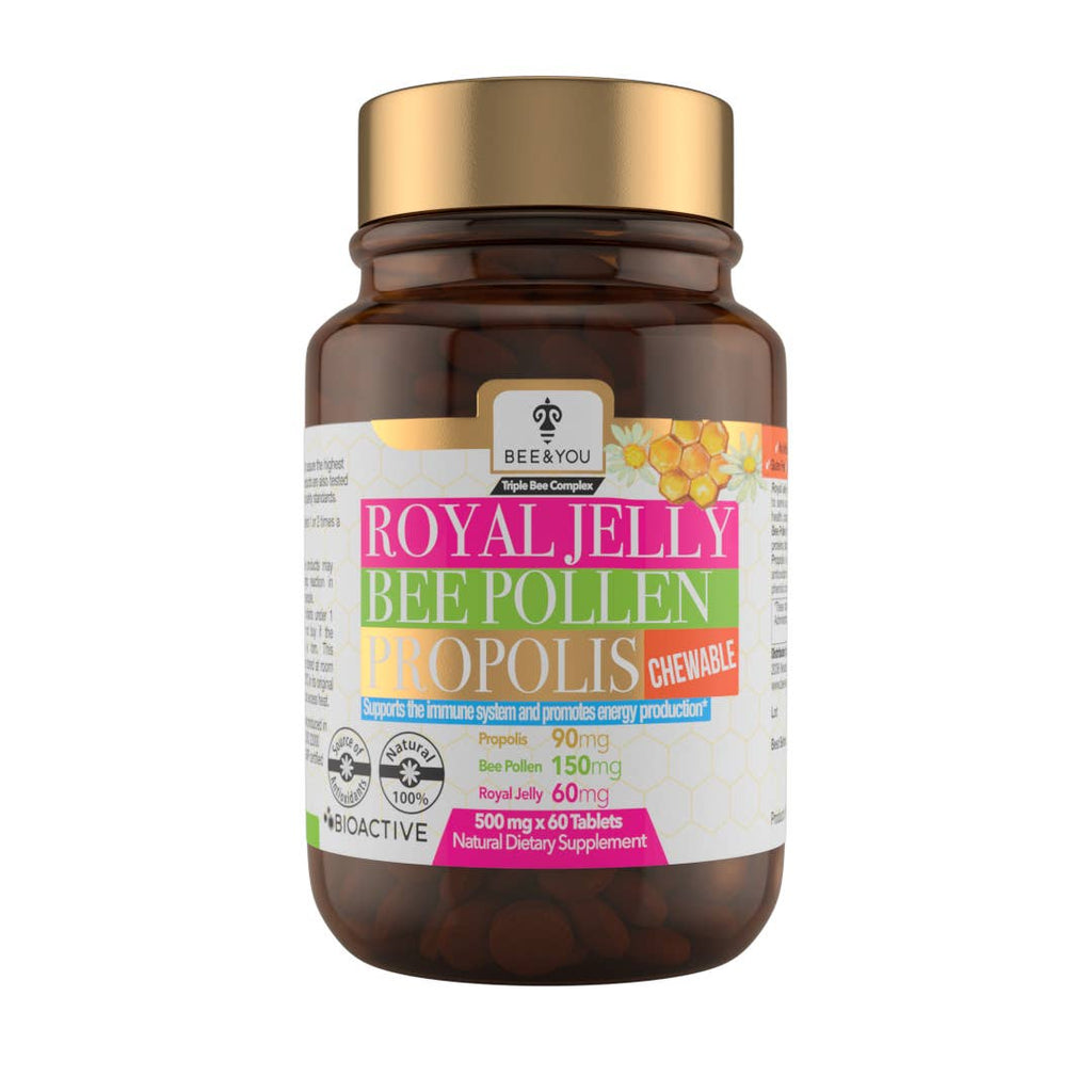 Royal Jelly Bee Pollen Propolis Chewable Tablets