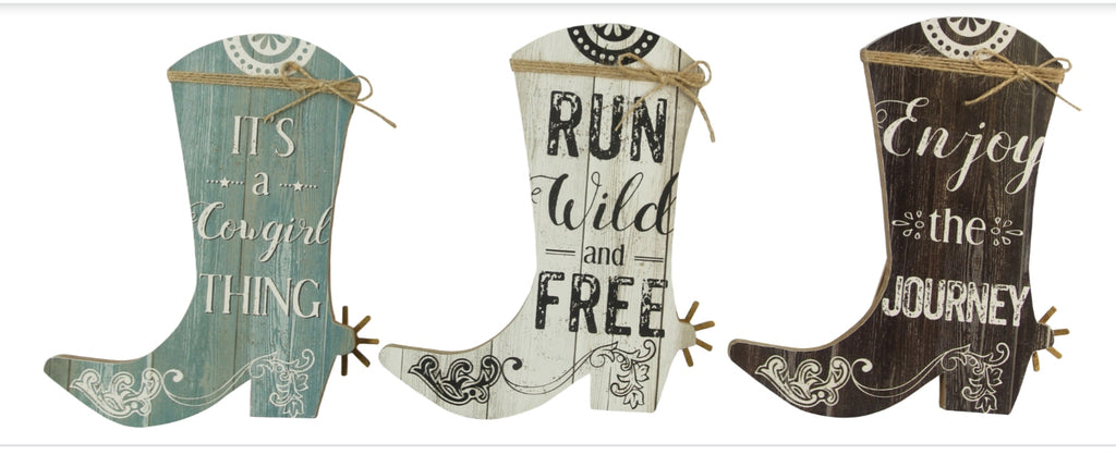 Cowgirl Boot Sign