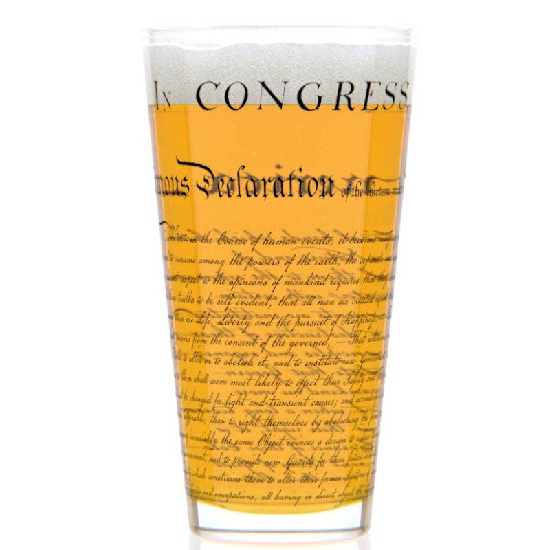 Declaration Of Independence Pint Glass