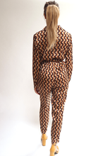 Load image into Gallery viewer, Geometric tie waist jumpsuit
