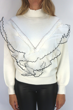 Load image into Gallery viewer, White Frill Jumper