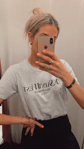 Grey slogan t-shirt