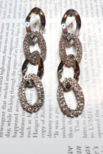 Load image into Gallery viewer, Silver chain link earrings