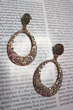 Load image into Gallery viewer, Diamante drop earrings