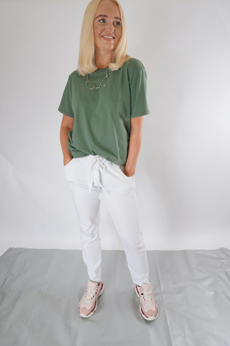 Khaki oversized t-shirt